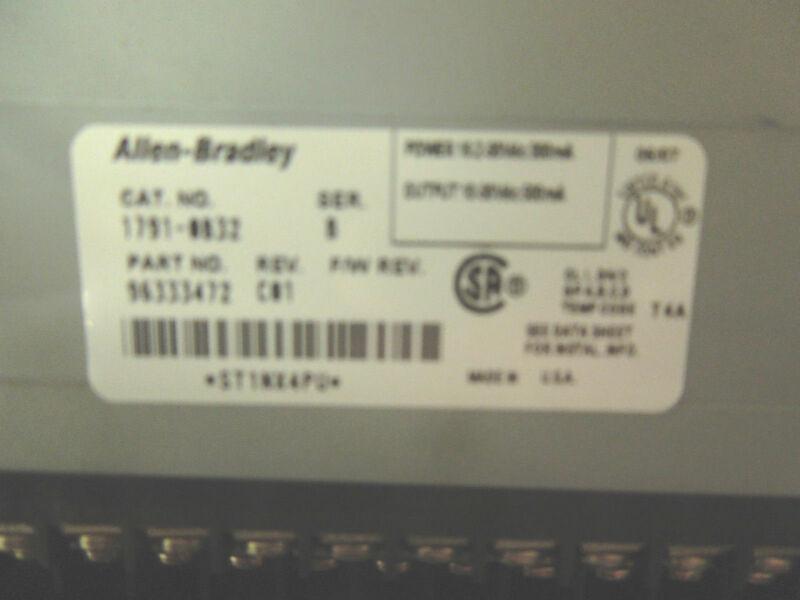 Allen Bradley Multi Terminal Module Block 1791 Ob32 Series B