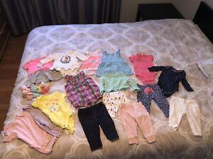 Brampton - 0-3 Months Girls Clothing (16 items $10plus socks)