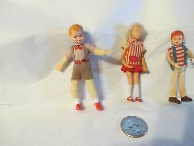 Vintage doll house dolls Zombie Skipper, Concord boy, bendable