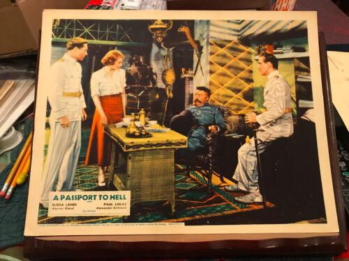 A Passport To Hell 1932 Fox lobbycard Elissa Landi Warner Oland Paul Lukas 11x14