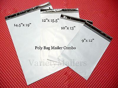 70 Poly Bag Mailer Assortment 4 Medium To Large Sizes Shipping Envelope Bags