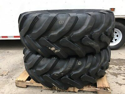 2 New Galaxy 19.5l-24 Backhoe Tires - 12pr - R4-19.5lx24 - For Case Cat More