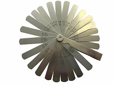 New 26 Blade Master Feeler Spark Plug Gap Gauge Measuring Guitar Set Up Tool