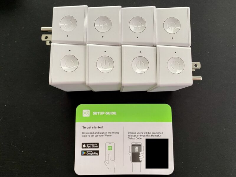 8x PLUGS! WeMo Wi-Fi Smart Plug (WSP080) Apple HomeKit, Alexa, Google Compatible