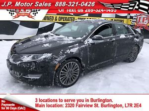 2015 Lincoln MKZ Navigation, Leather, Sunroof, AW, 49,000km
