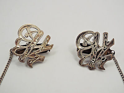 Vintage Japan Sterling Silver Sweater Clips
