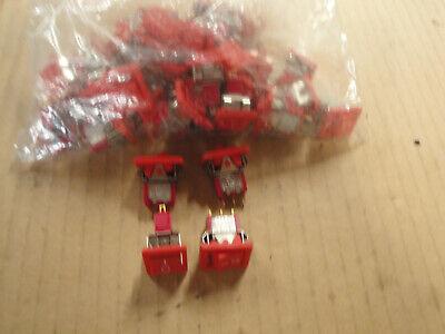 36 Pcs Ck U11 Mini Spdt On-on Or On Off 5a 120vac Rocker Switch Red