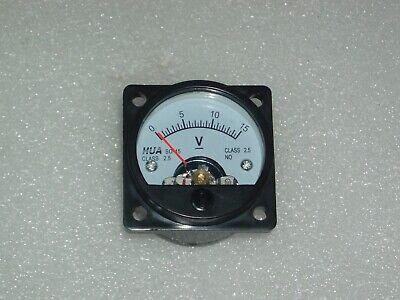 Analog Panel Meter Dc 0-15v  Voltmeter So-45 Range 0-15vdc