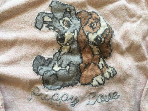 Baby Gap x Disney Lady And The Tramp Toddler Girls Sweater Tunic Pink 3 Years