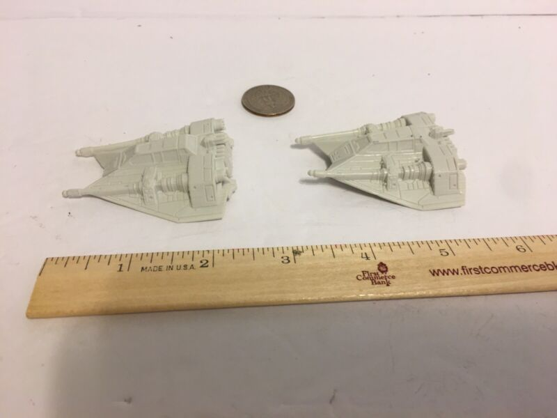Star Wars Miniature Hoth Rebel Armored Snow Speeder (plastic) Lot Of 2