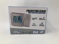Think Gizmos Atomic Projection Clock with Temperature TG644 – Ceiling/Wall...