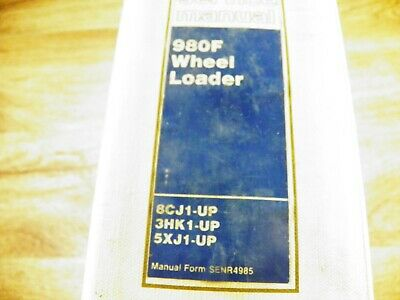 Cat Caterpillar 980f Wheel Loader Service Manual 8cj 3hk 5xj