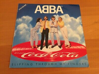 7 INCH SINGLE ABBA SLIPPING THROUGH MY FINGERS JAPAN PROMO PICTURE DISC