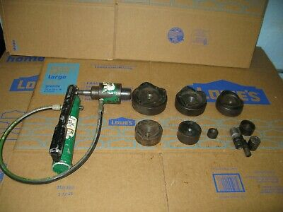 Greenlee Model 767 Hand Pump Hydraulic Knockout Punch Driver Set Up To 4