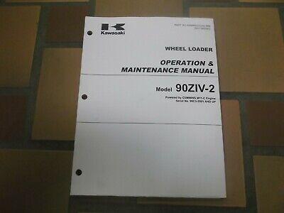 Kawasaki 90ziv-2 Wheel Loader Owner Operator User Guide Maintenance Manual