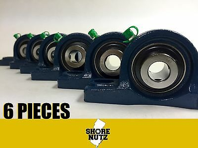 6 Pieces 1-12 Pillow Block Bearing Ucp208-24 Solid Foot P208