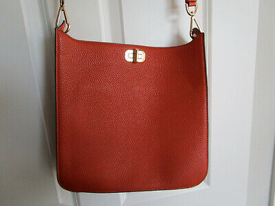 NEW Michael Kors Sullivan Large Orange Leather NS Messenger Crossbody Bag NWT
