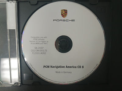 PORSCHE NAVIGATION CD #8 PART 000-044-901-21   T1000-14082 08/2007 #CD143
