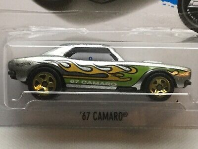 Hot Wheels ZAMAC '67 Camaro.  2018 Hot Wheels of the month sticker.