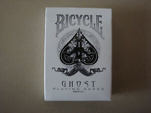 SVENGALI WHITE GHOST BICYCLE DECK PLAYING CARDS BY ELLUSIONIST MAGIC TRICKS GAFF