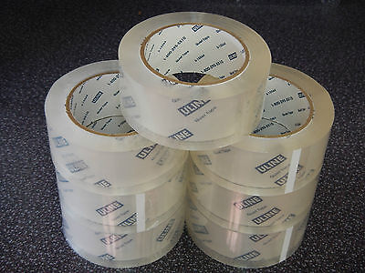 Uline Quiet Tape 7 Rolls 2 Mil 2 X 110 Ydsroll Clear Noiseless Carton Packing