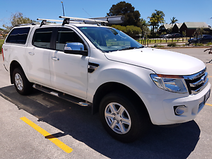 2012 XLT Ford Ranger Dual Cab White South Perth South Perth Area Preview