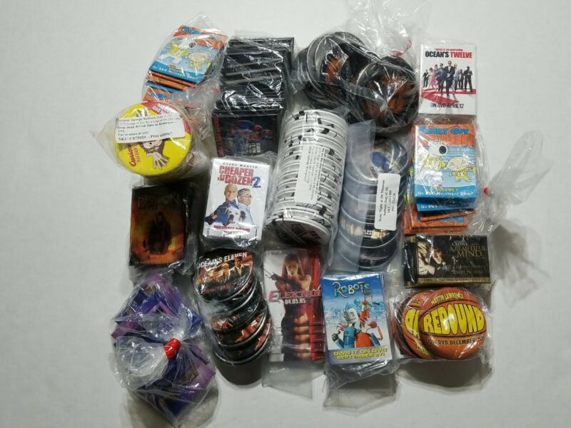 Big Promotional Advertising Movies Tv Series Pins Buttons Badge NEW Lot 3