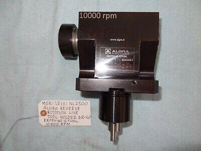 Mori Seiki Nl2500 Algra Live Tool Holder 10000rpm Reverse Rotation Er-40 Collet