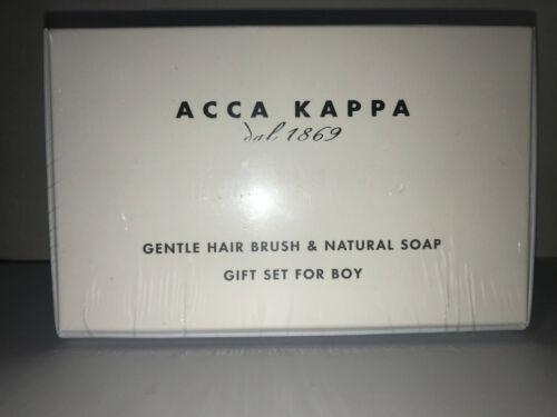 Acca Kappa Baby Boy Gift Set Gentle Hair Brush & Natural Soap Italy Italian NEW
