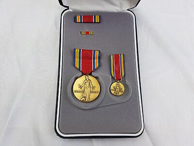 World War 2 WWII Victory Medal Original US Orden im Etui SONDERSET Ribbon Pin