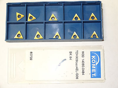 10 New Komet W30 14060.0484 Bk84 Carbide Inserts Tohx090204el-g06