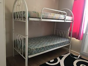 White steel bunk bed Rochedale South Brisbane South East Preview