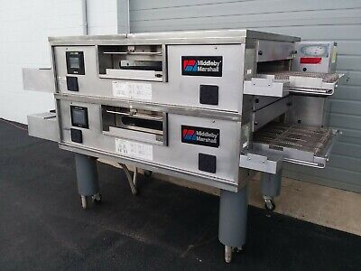 Middleby Marshall Wow Ps770g Double Deck Conveyor Pizza Oven Belt Width 32