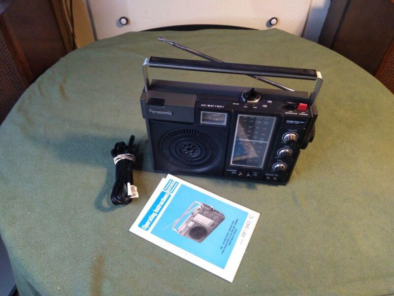 Panasonic RF-940  4 Band Portable FM/AM PSB Radio AC/DC  with Manual WORKING
