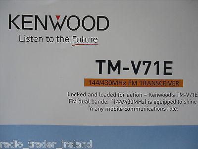 KENWOOD TM-V71E (GENUINE BROCHURE ONLY)............RADIO_TRADER_IRELAND., usado segunda mano  Embacar hacia Argentina