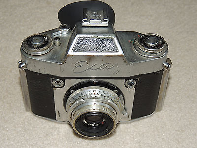 Vintage Ihagee Exa Camera W  Carl Zeiss 3 5   50 Lens 5Cm