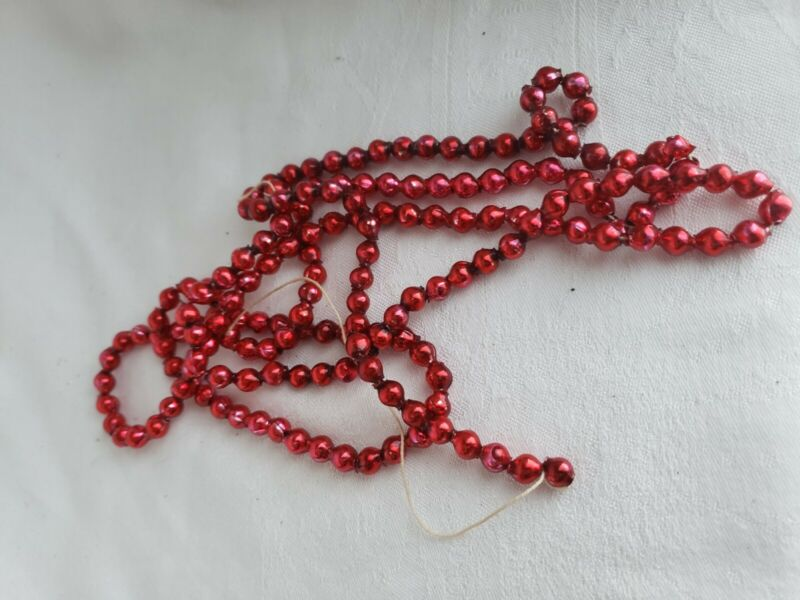 ANTIQUE CHRISTMAS TREE GARLAND RETRO COLLECTIBLE RARE EARLY RED #9