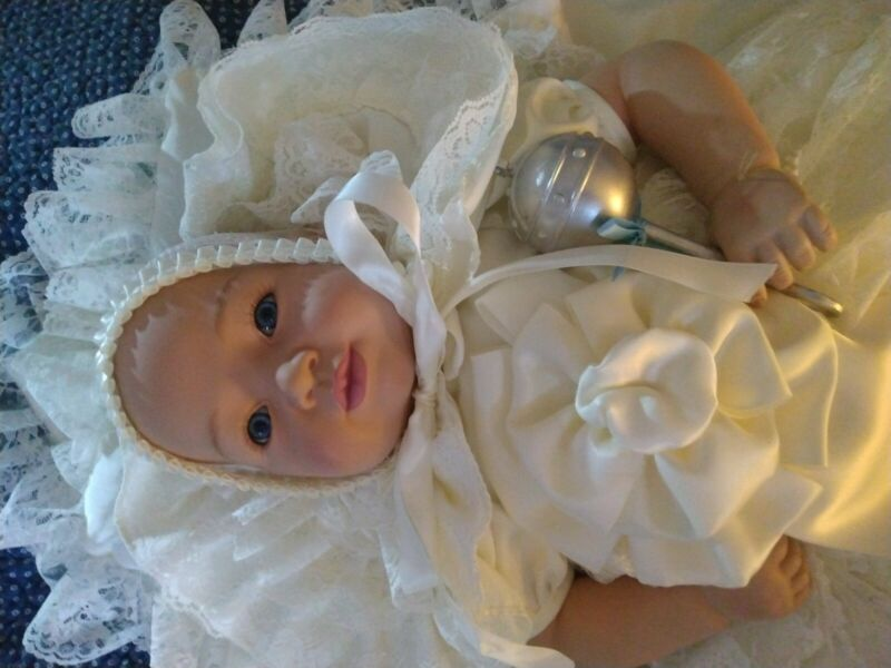Royal Baby Christening Prince George Porcelain Doll with Pillow