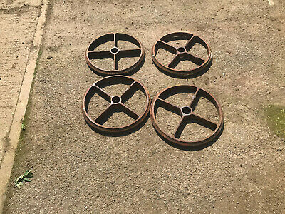 SHEPHERDS HUT WHEELS CAST IRON 19