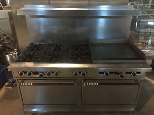 "Garland 60"" gas range with  6 burners and 24"" griddle"