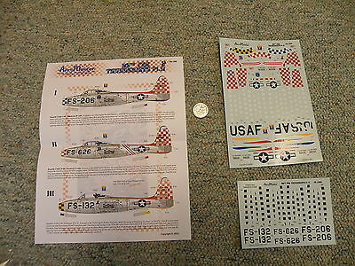 AeroMaster decals 1/72 72-196 F-84 Thunderjets 86th FBG Part II L115