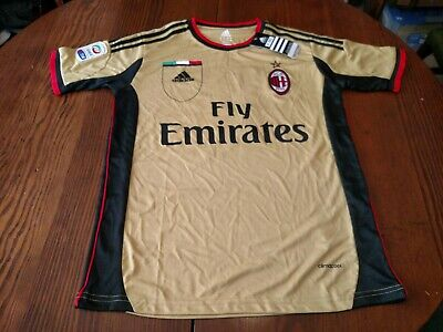 Adidas Climacool AC Milan Soccer Jersey Serie A NWT Men's Small #16