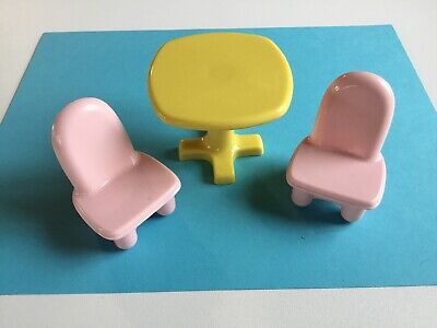 Fisher Price loving Family MY FIRST DOLLHOUSE furniture KITCHEN TABLE & 2 CHAIRS