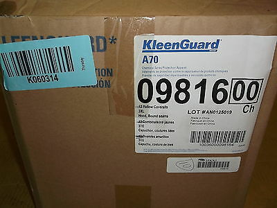 - NEW Kleenguard A70 Chemical Protection Spray Suit, 3XL Yellow 3PKK1, Case of 9