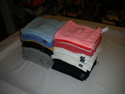 GAP Short Sleeve T-shirts XXL,Xl,L,M,S,Many Solid Color 100% Cotton V-Neck Women