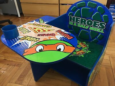 CHILDREN KID TEENAGE MUTANT NINJA TURTLES CHAIR DESK STORAGE BIN DELTA TC85723NT](Ninja Turtle Chair)
