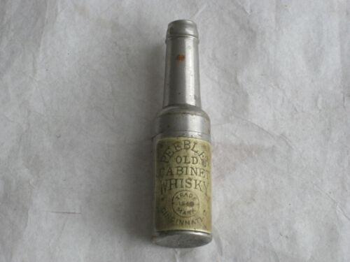 """VTG CINCINNATI 1840 """"PEEBLES OLD CABINET WHISKEY"""" ADVERTISING BOTTLE CORKSCREW"""