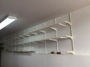 Fast track wall mounted shelf system