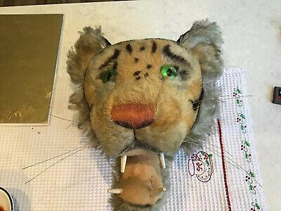 Rare Steiff Trophy Head Mount Tiger