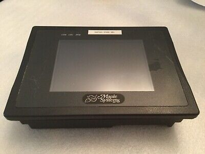 1 Maple Systems Hmi520t Touch Operator Screen 12-24 Vdc Silver Series Rs232